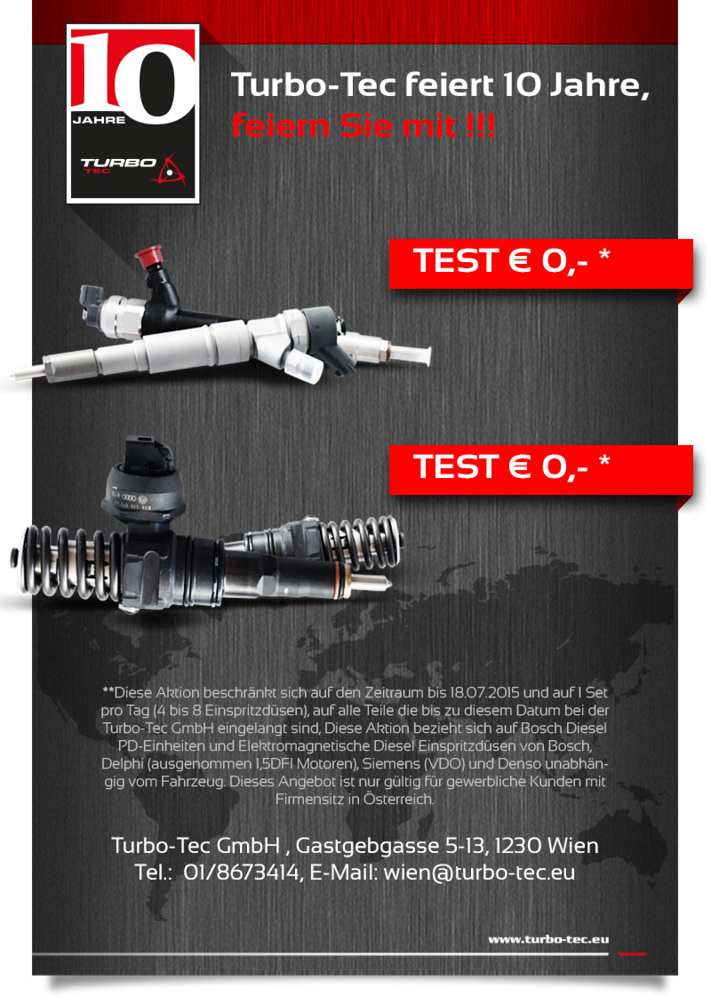 newsletter AT Turbo-Tec 10 jahre - Test 0 euro